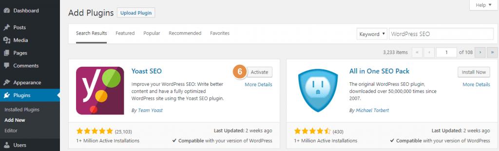 Activating WordPress Plugin after Install