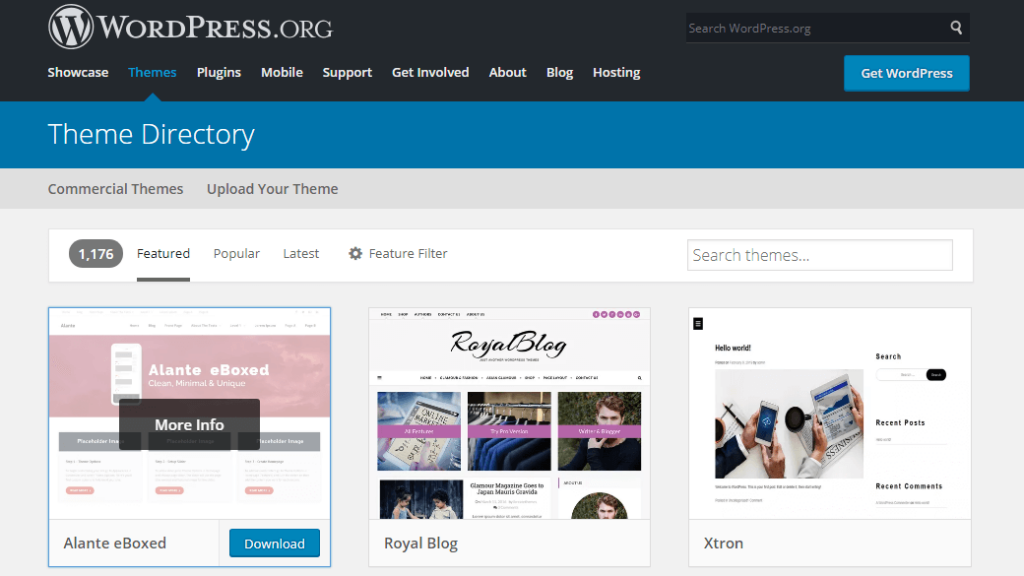 Downloading theme for WordPress theme directory