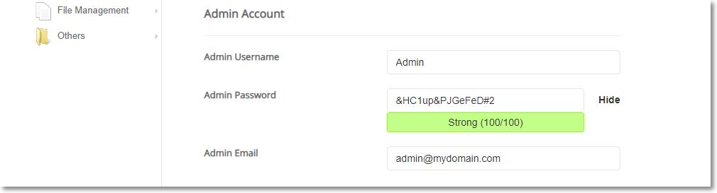Installing WordPress using Softacolous Admin Account