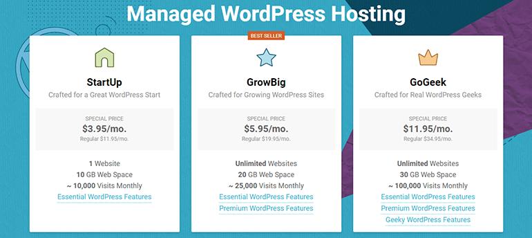 SiteGround WordPress Hosting Review - Hosting Plans