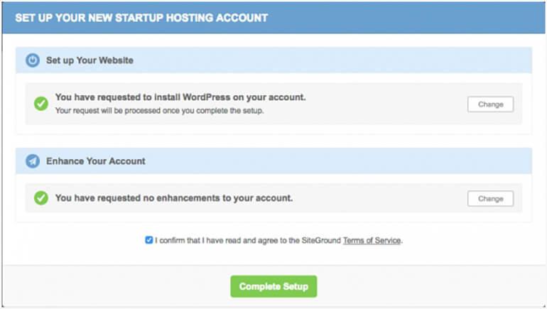 SiteGround WordPress Install Wizard1