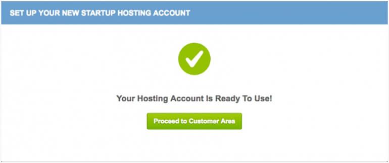 SiteGround WordPress Installation Successful
