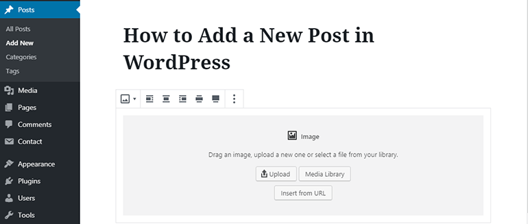 WP Block Editor Adding Images