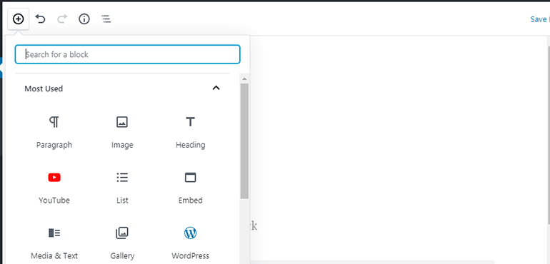 WP Post Add New Block