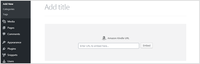WordPress Amazon Kindle Block