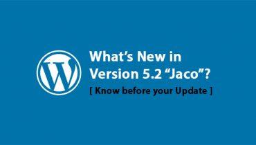 WordPress Version 5.2 Jaco